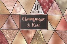 Rose gold and champagne textures by Paper Farms on @creativemarket