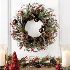 Love this rustic wreath/garland - make one?