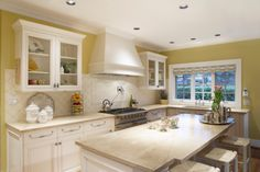 Create inexpensive countertops with a variety of easy ideas for updating an existing bathroom or kitchen countertops. White Kitchen Cabinets, Kitchen Dining, Kitchen Decor, Kitchen Ideas, Dining Rooms, Formica Countertops, Granite Worktops, Bathroom Countertops, Kensington