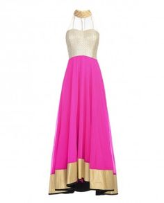 Fuchsia Anarkali Suit with Embroidered Bodice