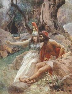 Athena inspires Odysseus for vengeance, Jan Styka Greece Mythology, Greek Mythology Art, Mythology Books, Classical Mythology, Ancient Rome, Ancient Greece, Homer Iliad, Homer Odyssey, Minoan
