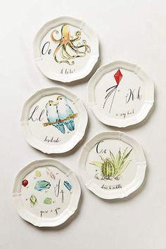 Anthropologie 食器(皿) 定番プレート★アンソロポロジー素敵なイニシャル小皿贈り物に(4)