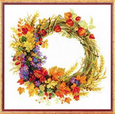 RIOLIS COUNTED CROSS STITCH KIT - THE WREATH OF WHEAT #RIOLIS
