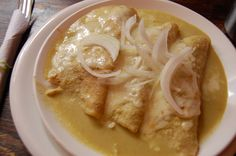 Enchiladas Suizas - Mexican Food (Comida Mexicana)