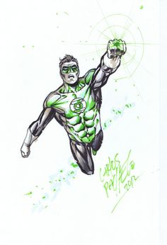 Carlos Pacheco Green Lantern Color Commission