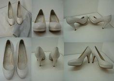 zapatos forrados  con dos telas una con hilos platas y una gasa. (forradodezapatos.com)Ahora son exclusivos y únicos no habra dos iguales en el mundo.