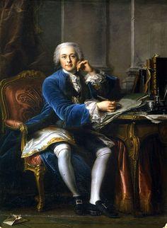 "Jean VALADE, ""Joseph-François de Seytres, Marqués de Caumont"", óleo sobre lienzo, h.1745."