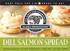 Alaska Smokehouse Dill Salmon Spread Serving Design, 3.5 Ounce Box - http://www.yourgourmetgifts.com/alaska-smokehouse-dill-salmon-spread-serving-design-3-5-ounce-box/