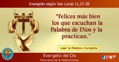 MISIONEROS DE LA PALABRA DIVINA: EVANGELIO - SAN LUCAS 11,27-28