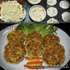 #BomDia! Dica de #almoço deliciosa e pode usar sobras de peixe.  É este prático e fácil Hambúrguer Caseiro de Peixe, é assado no forno!    #Receita aqui: http://www.gulosoesaudavel.com.br/2012/04/18/hamburguer-caseiro-peixe/