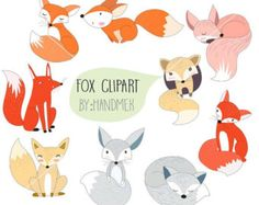 Cute clipart by HandMek Cute Animal Tattoos, Cute Animal Memes, Cute Animal Videos, Cute Animal Drawings, Fuchs Illustration, Enchanted Forest Party, Cute Squirrel, Chalk Drawings, Animal Activities