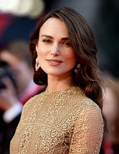 """ Keira Knightley attends a screening of 'The Imitation Game' on the opening night gala of the 58th BFI London Film Festival at Odeon Leicester Square on October 8, 2014 in London,..."