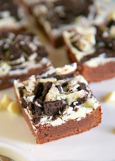 White Chocolate Oreo Brownies Really nice recipes. Every  Mein Blog: Alles rund um Genuss & Geschmack  Kochen Backen Braten Vorspeisen Mains & Desserts!