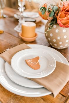 Terra cotta, rust, burnt orange — whatever you call this rich, autumnal color — one thing is for sure! This wedding color is here to stay! Coastal Wedding Inspiration, Wedding Stationery Inspiration, Wedding Place Cards, Wedding Day, Wedding Stuff, Wedding Reception Decorations, Wedding Tables, Wedding Decor, Cactus Wedding
