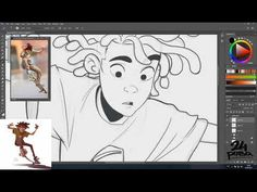 Speed Paint - Drawing from reference - YouTube