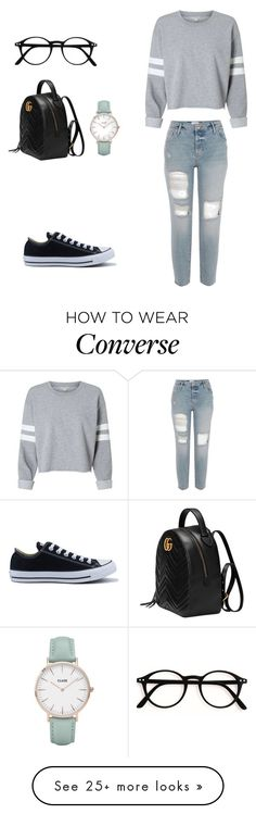 """Untitled #231"" by dulce345 on Polyvore featuring Converse, Gucci and CLUSE"