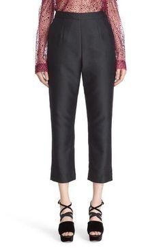 'Classic' Cotton & Silk Crop Pants