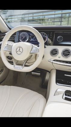Interior of Mercedes! These cars are the safest in the world! Go get you a Mercedes! Mercedes Auto, Mercedes Sport, Mercedes Benz Coupe, Sexy Cars, Hot Cars, Ford Gt, Dream Cars, My Dream Car, Carl Benz