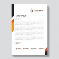 Company Letterhead Template, Letterhead Design, Brochure Template, Letterhead Business, Footer Design, Architecture Quotes, Create Website, Wedding Humor, Interactive Design