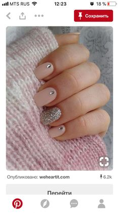 20 Easy Nail Designs You Need to Try - Latest Nail Art Trends & Ideas - Pretty Designs - Pretty nails - Diamond Nail Designs, Pink Nail Designs, Simple Nail Art Designs, Winter Nail Designs, Diamond Nails, Easy Nail Art, Acrylic Nail Designs, Nails Design, Pretty Designs