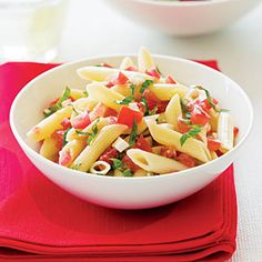 Fresh Tomato and Basil Pasta   MyRecipes.com