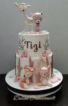 Forest Animal Baby Shower Cake, # baby shower # the # forest animal cake – Torten Ideen – # baby # forest Pretty Cakes, Cute Cakes, Beautiful Cakes, Amazing Cakes, Fondant Cakes, Cupcake Cakes, Kid Cupcakes, Gateau Baby Shower, Woodland Cake