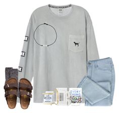 """~ rtd :( ~"" by southern-preppster ❤ liked on Polyvore featuring Birkenstock, Kenneth Jay Lane, Stila, Monica Vinader, Mod Bath and Body and jontaestrong"