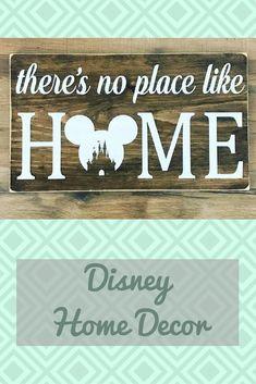 No place like home, disney sign, disney decor, in this house we do disney, foyer sign, home decor #ad #gift #disney #home #honedecor