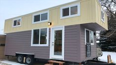 This is a 249 sq. tiny house on wheels by Two Fifty Lifestyles out of Fort Collins, Colorado and you're welcome to come on in to check it out and learn more about it inside! Tiny House Talk, Tiny House Nation, Tiny House Design, Tiny Houses For Sale, Tiny House On Wheels, Little Houses, Small Luxury Homes, Tiny Homes, Wheels For Sale