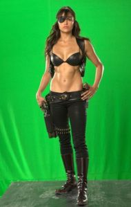 Known for her bad girl roles, Michelle Rodriguez has an enviable body that she's bringing again to the screen this time in Machete. Rodriguez trains hard for her action roles and spends months trai…