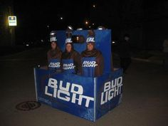6 Pack Beer Bud Light Costume I Saw On Ebay. Looks Uncomfortable Though. I