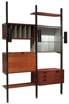 George Nelson, Wall Unit for Herman Miller, 1950s.