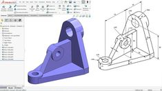in this tutorial we will learn how to use solidworks Extruded Boss Base, Extruded cut and fillet features in Solidworks and create a model with the help of i. Autocad, Orthographic Drawing, Solidworks Tutorial, Mechanical Engineering Design, Isometric Drawing, 3d Drawings, Batman Vs Superman, Drawing Practice, Technical Drawing
