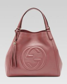 Soho Leather Shoulder Bag, Vintage Rose  by Gucci at Neiman Marcus.