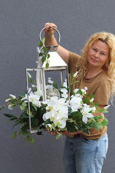 Silk Flower Wreaths, Silk Flowers, Ikebana, Wedding Table, Lanterns, Table Decorations, Garden, Silver, Inspiration
