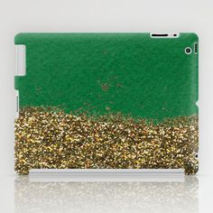 Dipped in Gold, Emerald iPad Case by Social Proper - $60.00