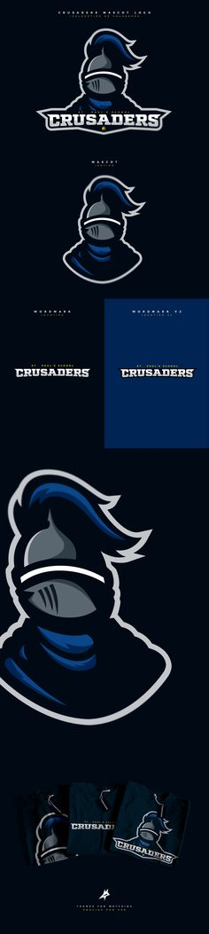 """Check out my @Behance project: """"St. Paul's School Crusaders"""" https://www.behance.net/gallery/48247313/St-Pauls-School-Crusaders #knight #mascot #logo #esports #sports"""