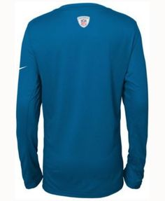 Nike Kids' Detroit Lions Team Practice Long-Sleeve T-Shirt - Blue M