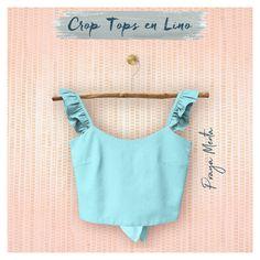 Colección Crop tops en Lino Spring-Summer 2020 Spring Tops, Spring Summer, Crop Tops, Tank Tops, Camisole Top, Women, Fashion, Mint, Moda