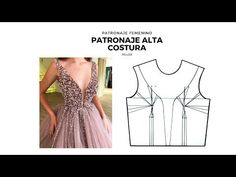 TRANSFORMA TU PATRÓN BASE DE CUERPO/CLASES DE PATRONAJE DE LA ALTA COSTURA - YouTube Dress Sewing Patterns, Clothing Patterns, Ropa Upcycling, Beach Dresses, Prom Dresses, Kaftan Gown, Stitching Dresses, Blouse Models, Dress Tutorials