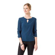 Blaue Bluse aus Viskose #zerofashion #blue