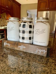 945200595ff9 Black and White Gingham - Buffalo Plaid Canister Set
