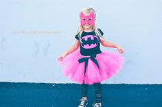 Pink Batgirl a Batman inspired Tutu Costume includes shirt and tutu