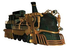 Steampunk Train 02 PNG Stock by Roys-Art