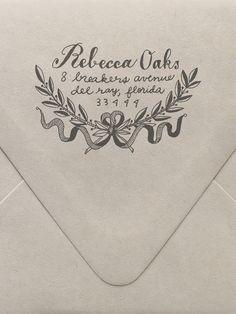 Laurel Return Address Custom Stamp