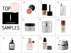 best sephora samples (the most expensive products that you can ask for take home samples!)
