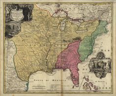 Map of the United States in 1700 | WELCOME 1720's Pennsylvania Maps WELCOME