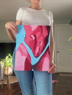 """This beautiful print of my original painting entitled """"Boudoir is printed on high quality paper to provide a saturated and long lasting colorful image just for you. Art Du Croquis, Geometric Tatto, Small Canvas Art, Pics Art, Art Sketchbook, Aesthetic Art, Art Drawings, Art Sketches, Art Projects"""