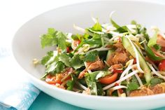 Fresh, healthy and full of flavour, this salmon and herb Thai salad is a great one for summer.