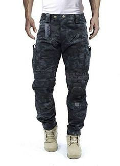 Survival Tactical Gear Men's Airsoft Wargame Tactical Pants with Knee Protection System & Air Circulation System (Typhon Camo, L) Mens Tactical Pants, Tactical Uniforms, Tactical Wear, Tactical Clothing, Survival Clothing, Pantalon Cargo, Herren Style, Cargo Pants, Cool Outfits